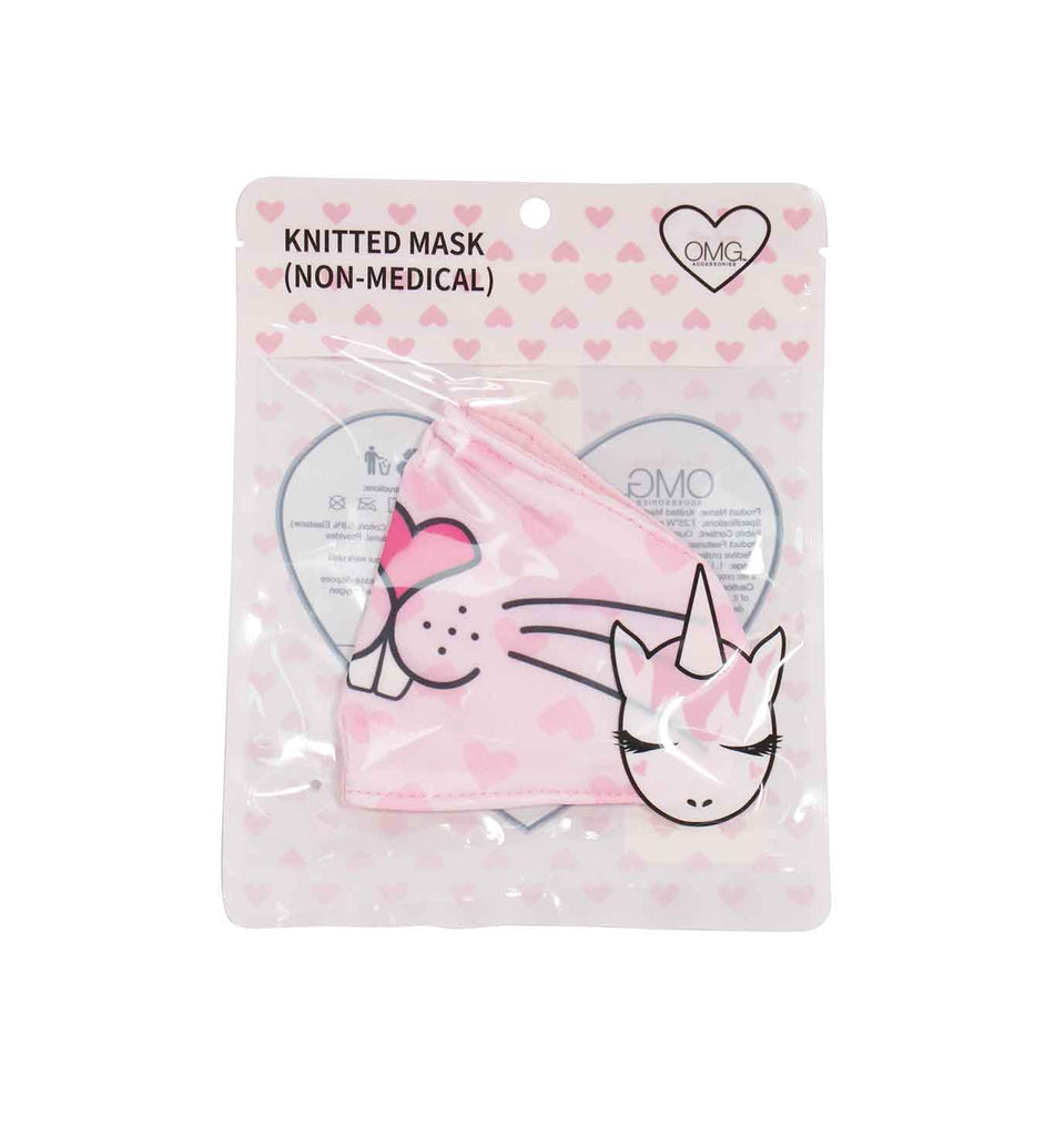 Miss Kiki the Bunny Heart Print Face Mask (final sale item)
