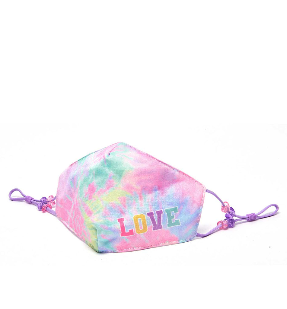 Love Tie Dye Print Face Mask (Final Sale Item)