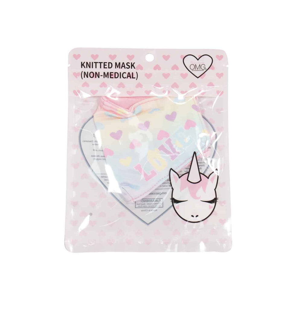 Love Heart Print Ombre Face Mask (Final Sale Item)