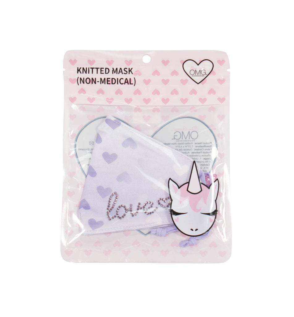 Love Ombre Print Lavender Face Mask (Final Sale Item)