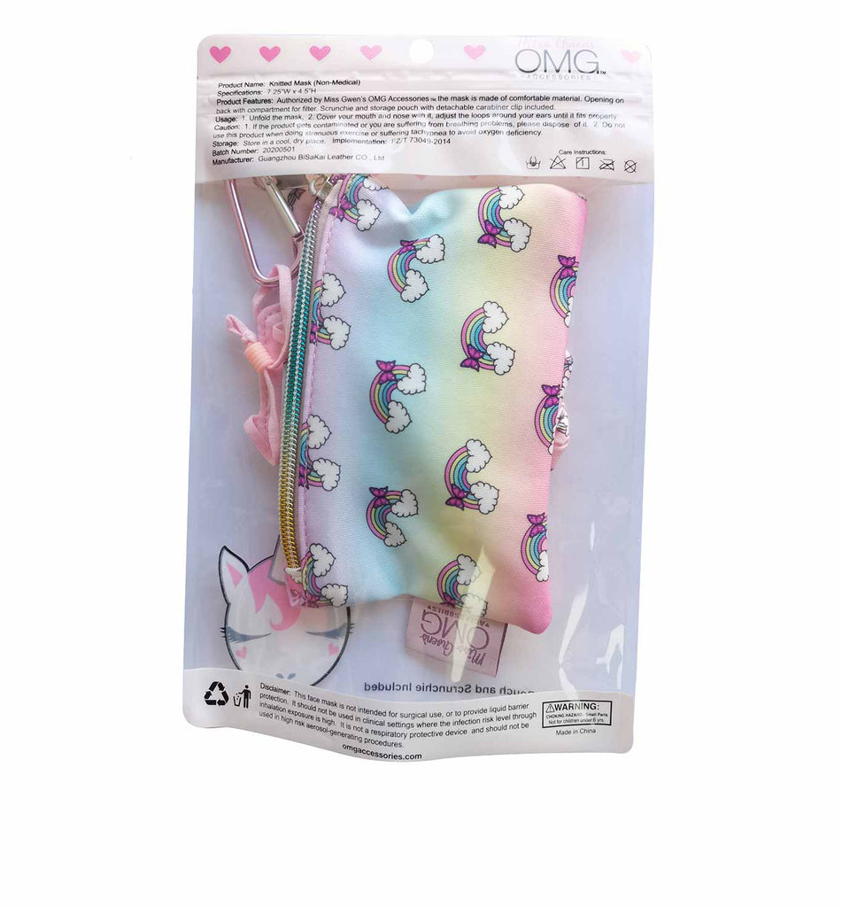 Over the Rainbow Face Mask, Pouch and Scrunchies Set (Final Sale Item)