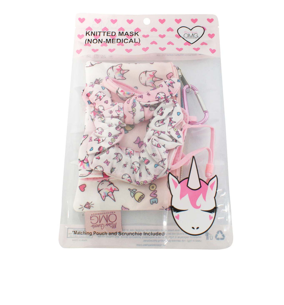 Miss Gwen Print Face Mask, Pouch and Scrunchies Set (Final Sale Item)