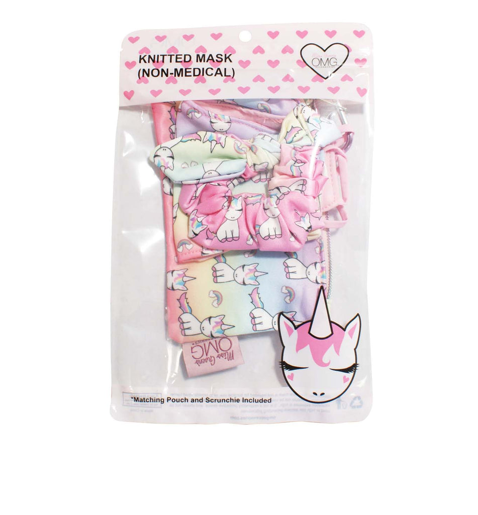 Lil Miss Gwen Ombre Print Face Mask, Pouch and Scrunchies Set (Final Sale Item)