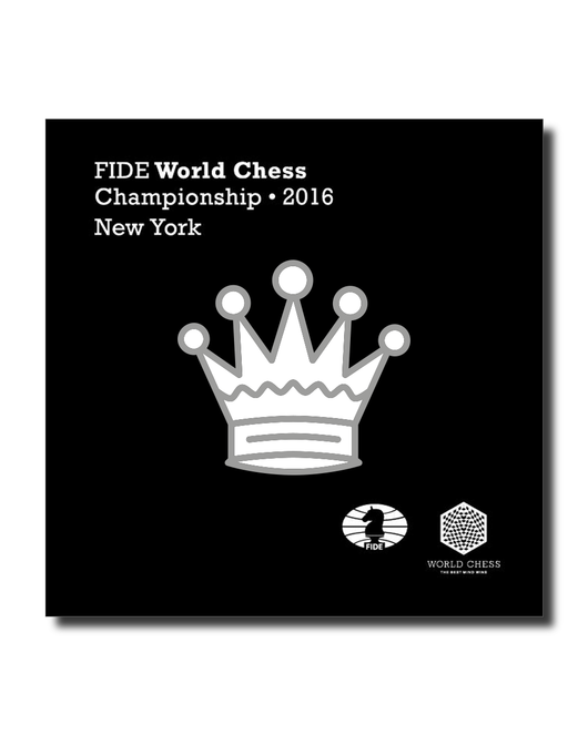Official FIDE Chess Championship 2016 Pin (White)