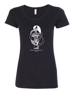 Official FIDE Chess Championship 2016 Ladies T-shirt (Torch) - Black