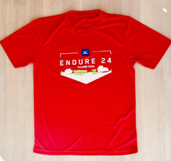 Endure 24 Wasing Park Race T-Shirt, LADIES Red