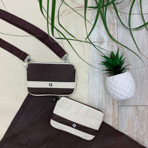 Sustainable hand bags made from pineapple leather