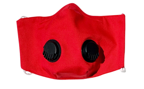 organic cotton vent mask red