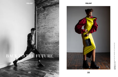 VOLANT MAGAZINE MALAIKA NEW YORK ZERO WASTE TWIST DRESS
