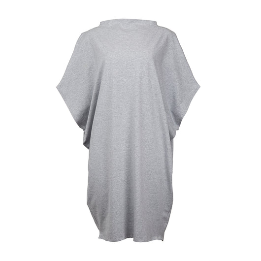 Hexagon Organic Cotton T-Shirt Dress Grey