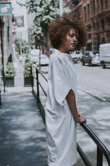 organic cotton t-shirt dress white