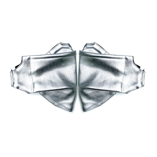 2 Pack Silver Origami Cloth Mask With Filter Pocket & DWR