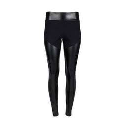 Tube Vegan Black Leather Leggings