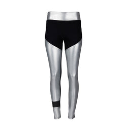 Tube Vegan Silver Leather Leggings