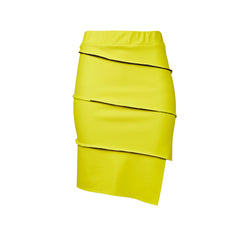 sustainable pencil skirt yellow made in usa