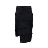 black pencil skirt with elastic waist