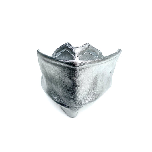 1 Silver Origami Cloth Mask With Filter Pocket & DWR
