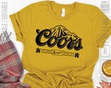 Coors Banquet Edge Light Beer Logo SVG PNG