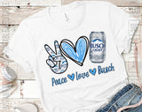 Peace Love Busch Light Beer Can SVG PNG
