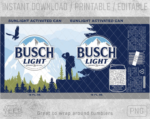 Busch Light Latte Beer Logo Inspired Can Wrap PNG