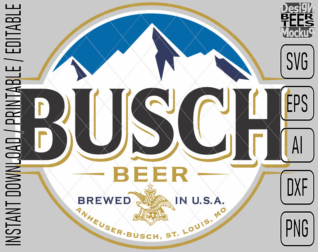 Busch Light Beer Logo Inspired Unofficial Custom Design SVG PNG