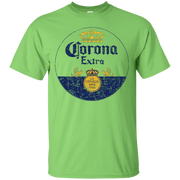 Corona Extra Beer T Shirt Custom Designed Color Worn Label Pattern