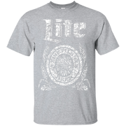 Miller Lite Beer T Shirt Custom Designed White Worn Label Pattern