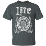 Miller Lite Beer T-Shirt Custom Designed White Worn Label Pattern