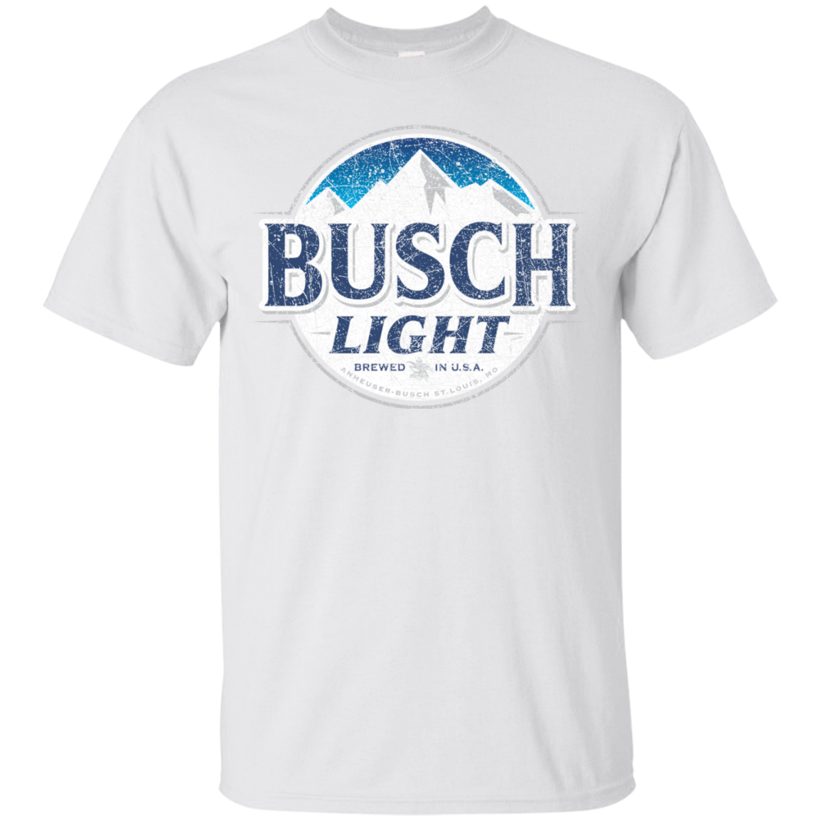 Busch Light Beer T Shirt Custom Designed Color Worn Label Pattern