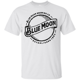 Blue Moon Beer Brand Logo Label T-Shirt