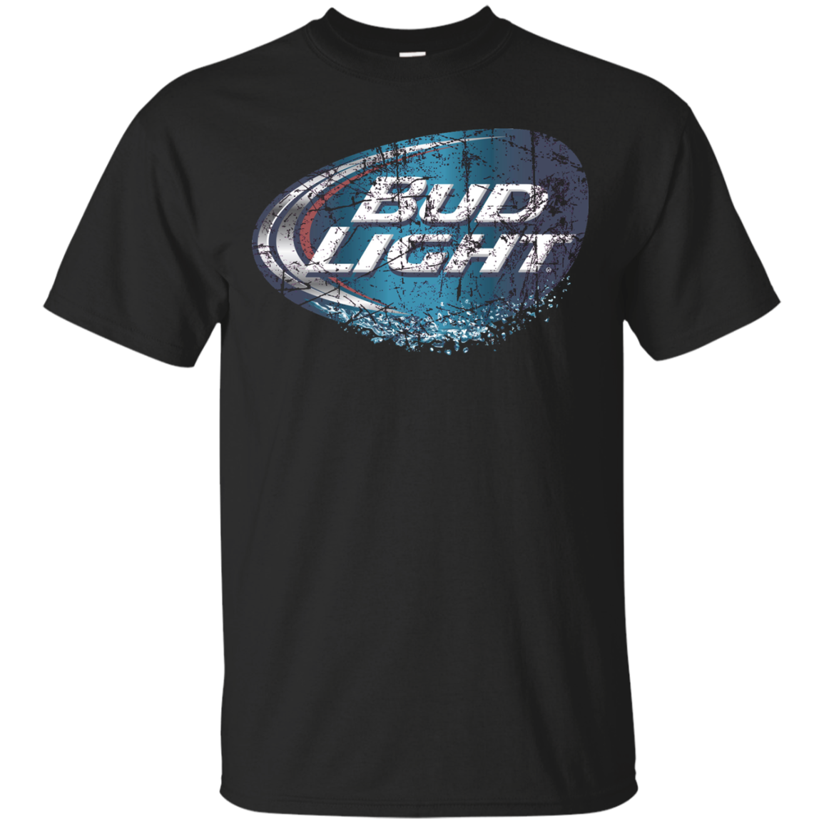 Bud Light Beer T Shirt Custom Designed Worn Label Pattern