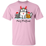 Christmas Crazy Cool Funny Cat Merry Fluffmas T-shirt Shirt Unisex 05-002a