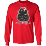 Christmas Cats Long Sleeve Funny Gift Sweatshirt Shirt 05-010