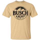 Busch Light Beer T-Shirt Custom Designed Black Worn Label Pattern