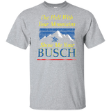 Busch Beer T-Shirt Custom Designed Color Worn Label Pattern