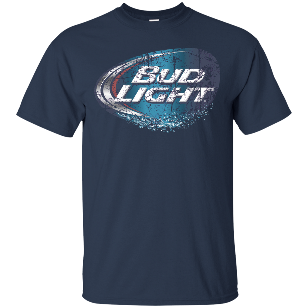 Bud Light Beer T-Shirt Custom Designed Worn Label Pattern