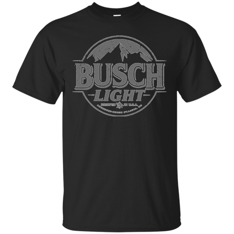 Busch Light Beer T-Shirt Custom Designed Gray Worn Label Pattern