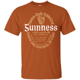 Guinness Beer T-Shirt Custom Designed Color Oval Worn Label Pattern