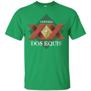 Dos Equis XX Lager Beer T Shirt Custom Designed Worn Label Pattern