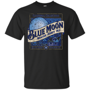 Blue Moon Beer T Shirt Custom Designed Color Worn Label Pattern