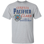 Pacifico Beer T Shirt Custom Designed Color Worn Label Pattern