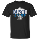 Busch Light Beer T-Shirt Custom Designed Color Worn Label Pattern