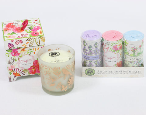 Confetti Candle & Bath Salt Set