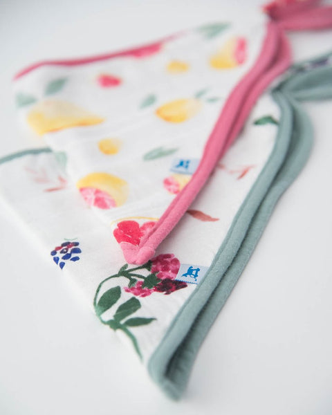 little unicorn deluxe Sweet Tart bandana bib