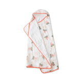 Little Unicorn Big Kid Hooded Towel Watercolor Rose
