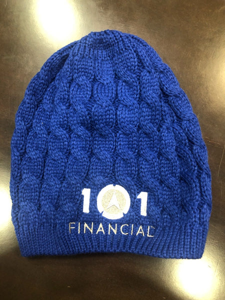 BEANIE - 101 BRAND, SOLID BLUE KNIT