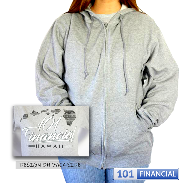 Island Design 101 Financial Zip-Up Hooded Sweater