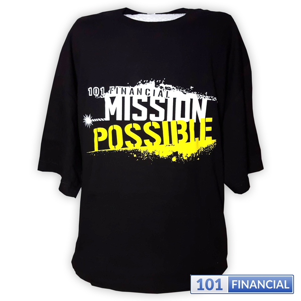 MISSION POSSIBLE Hanes Mens Tag-less Tee