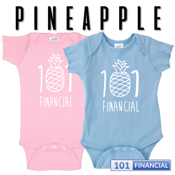 Pineapple 101 - Baby Rabbit Skin LAT Apparel Onesie - MORE COLORS