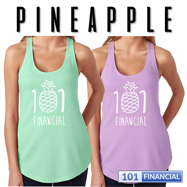 Pineapple 101  Ladies' French Terry Racerback Tank - MORE COLORS